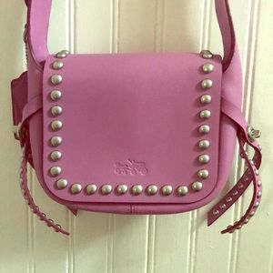 Purple cross body Coach purse